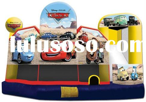 5 in 1 inflatable combo castle, slide, bouncer, obstacles, basketball hoop