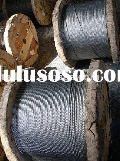 6X19/ galvanized steel cable/ galvanized steel rope galvanized wire rope