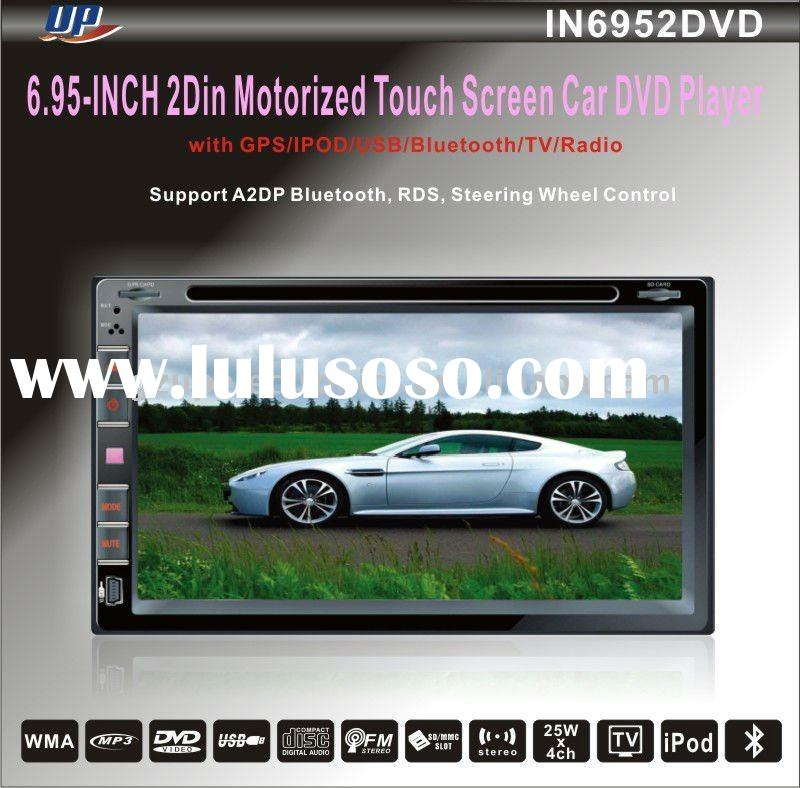 6.95fixed panel 2 din car DVD player with GPS,TV