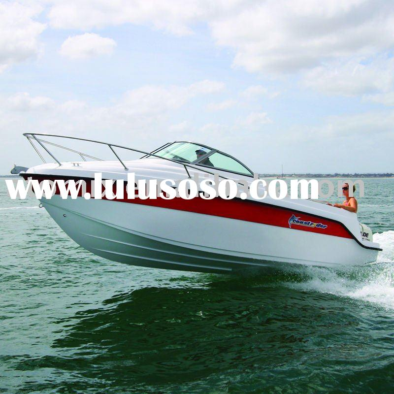 6m CE approved Fiberglass boat with outboard engine (600 Sports Cuddy)
