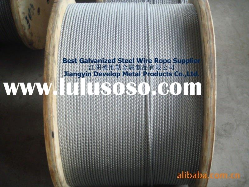 6x19+IWS/FC High Tensile Strength Galvanized Steel Wire Rope