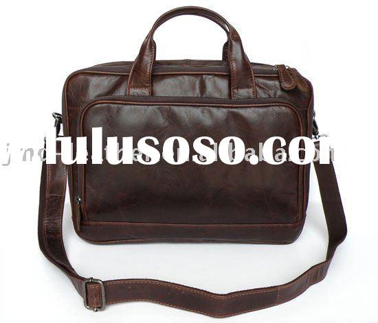 7005Q Fossil Chocolate Genuine Leather Men's Laptop Bag Briefcase Messenger Bag