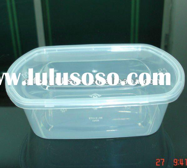 750ml oval-shaped disposable microwave plastic food container box with lid
