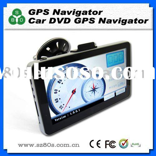 7 inch car gps navigation MTK Wifi DVB-T TV Bluetooth FM AV-IN Mp3 New Map