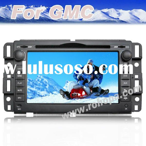 7inch auto radio touch screen car dvd for gmc envoy/yukon/suburban with gps navigation system tv blu