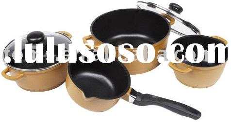 7pcs cast aluminium cookware set