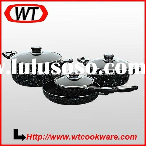 7pcs marble coating nonstick Cookware