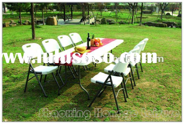 8 feet white plastic outdoor table(blow mould,hdpe)