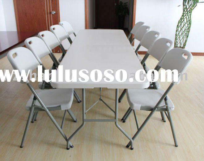 8feet plastic folding table and chair set outdoor furniture