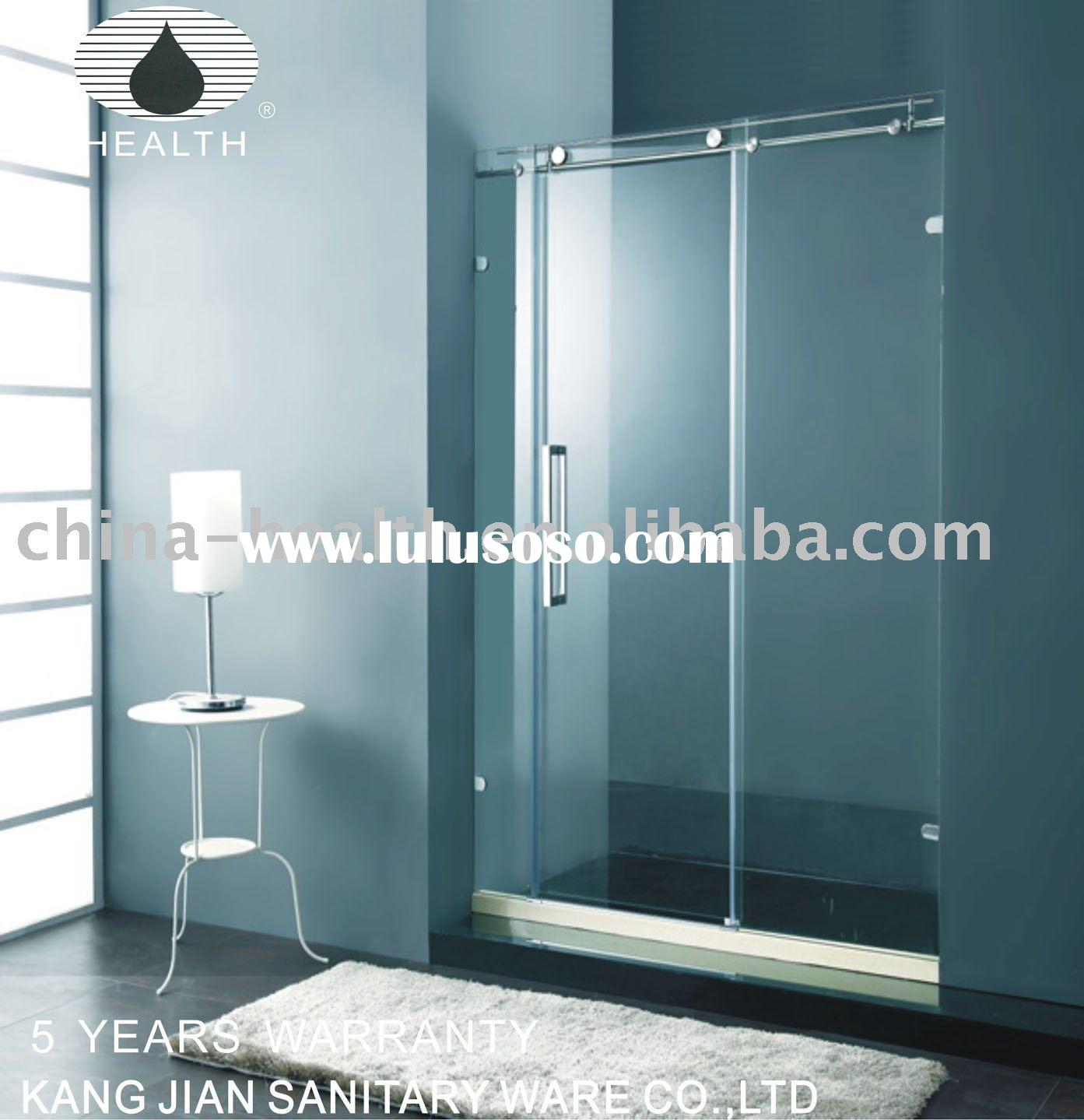 8mm bathroom frameless sliding glass shower screen