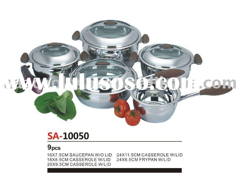 9pcs 304 Stainless Steel Cookware/Kitchenware