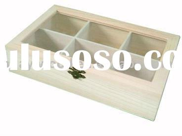 Acrylic Lid Wooden Boxes, Simple Wood Box, Hinged Lid Boxes, Natural Wooden Boxes