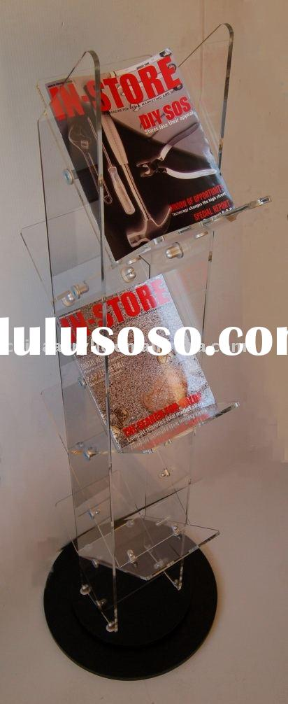 Acrylic magazine display,magazine rack,magazine stand