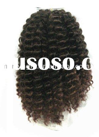 Afro Twist/kanekalon braiding hair in bulk/weaves all human hair and braidings hair makeup/hair weav