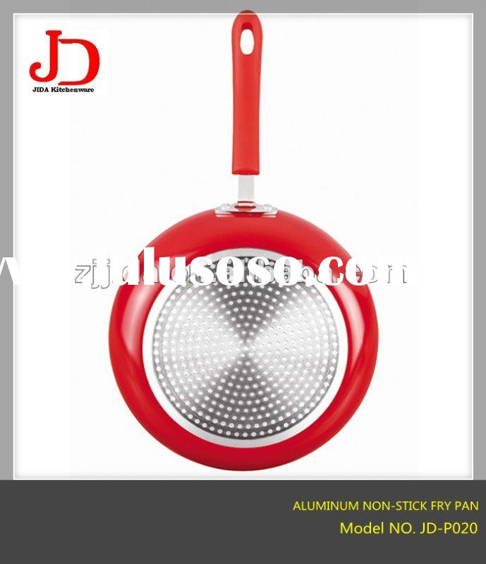 Aluminum Non-Stick Fry Pan With Induction Bottom&Silicon handle