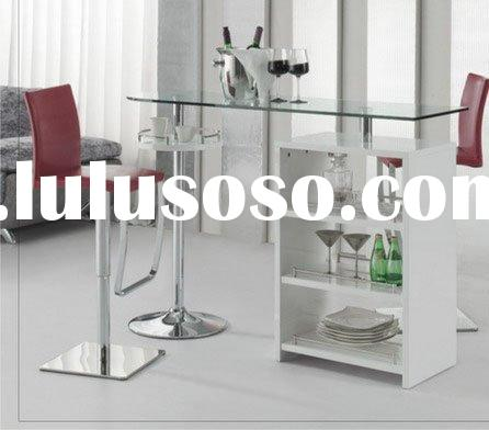 BAR TABLE/ GLASS+MDF+STAINLESS STEEL/ A900HXL