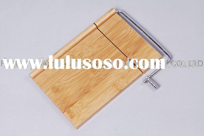 Bamboo Cheese Board With Slicer