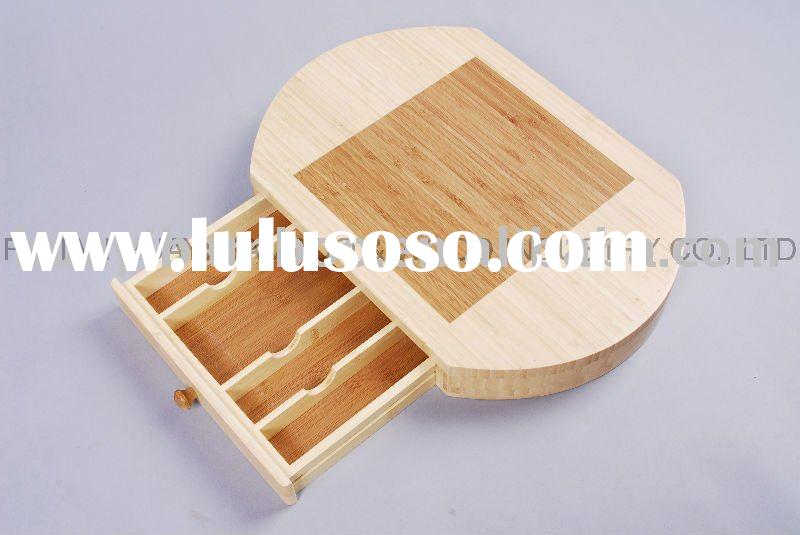 Bamboo Cutting Board With Drawer