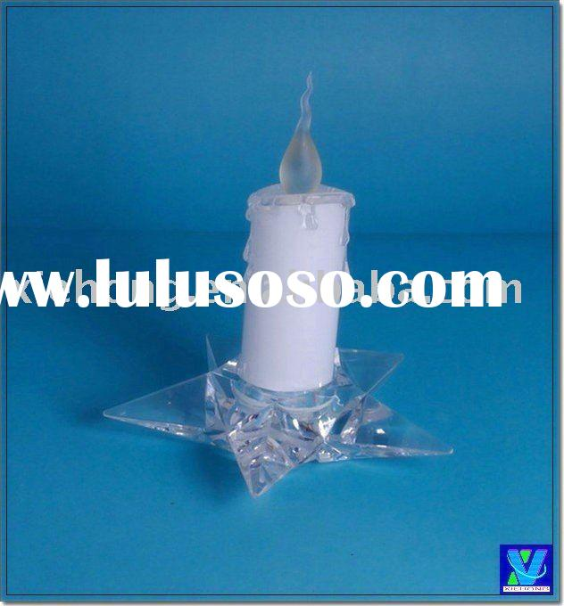 Battery operated LED candle w/ star base