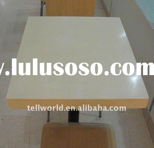 Beautiful artifical marble stone corian solid surface acylic restaurant dinning table