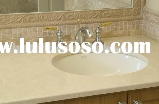 Beige cultured marble vanity tops