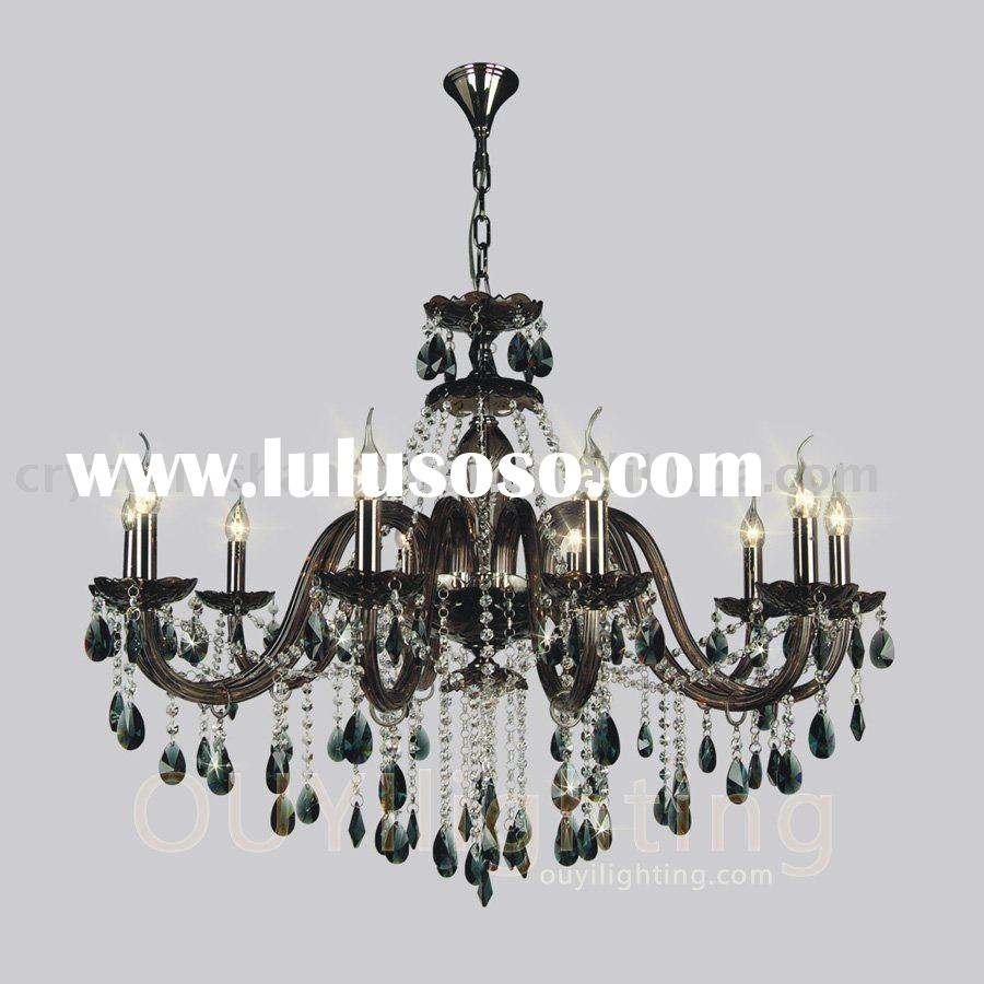 BLACK CRYSTAL PENDANT CHANDELIER