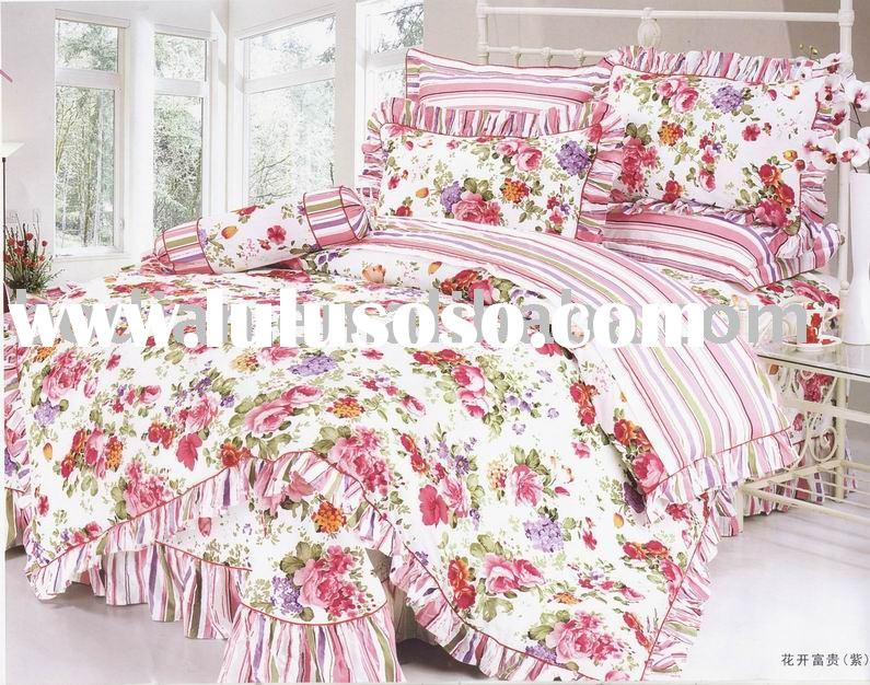 Blue sky printed bedding set/comforter,bedspread,bed sheet,comforter set/bedding/printed bedding set