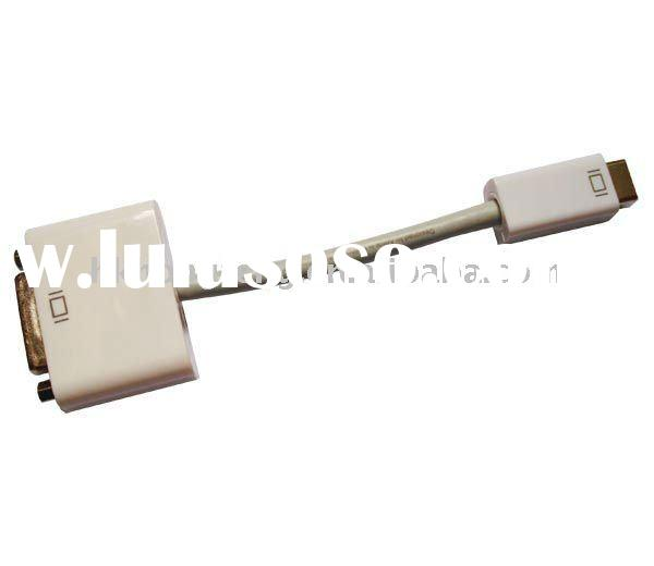 Brand New For apple mini dvi to vga adapter cable,Mini DVI To VGA Video Cable Adapter for Apple