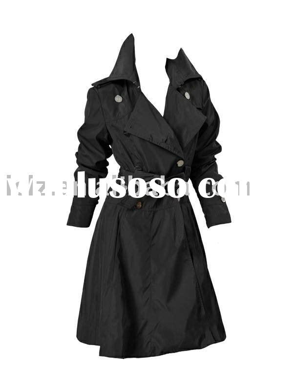 CH404 designer lady wind coat,trench coat,sash long coat