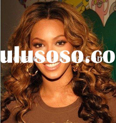 CUSTOMIZE BEYONCE CURL TONED COLOR FULL LACE WIG