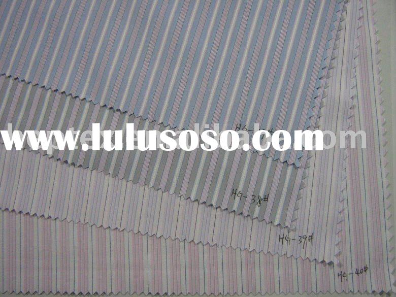 CVC 60/40 striped shirt fabric