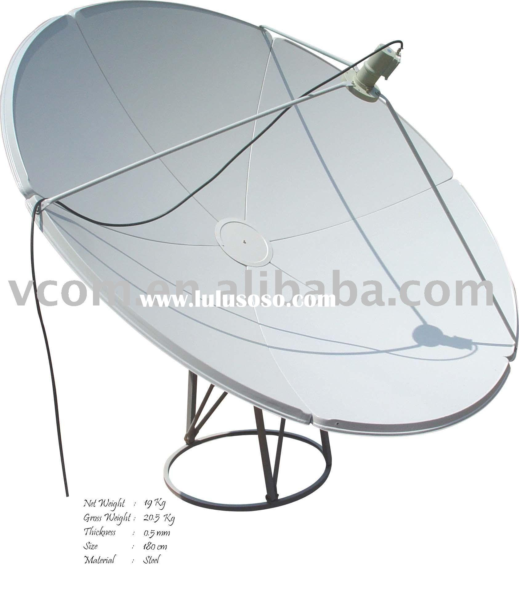 C-Band satellite dish antenna used outdoor