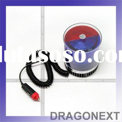 Car Vehicles Red & Blue Police Beacon Rotating Flashing Strobe Warning LED Lights For Emergency
