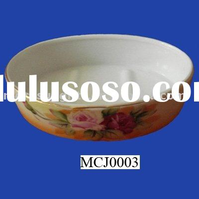 Ceramic oval soap dish