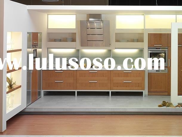 Cherry Wood Veneer Kitchen Cabinet,Kitchen Cabinetry,Kitchen Furniture,Kitchen Cupboard