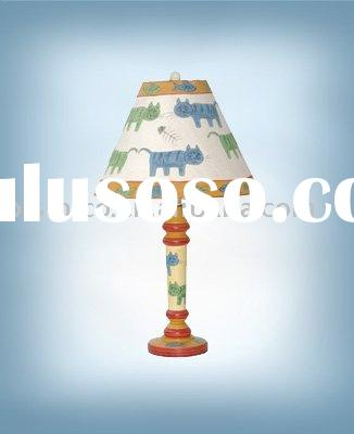 Children Hand painted table lamp with shade