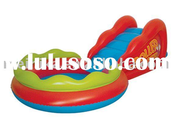 Children inflatable swimming pool with slide