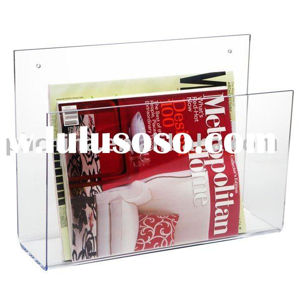 Clear Acrylic Floor Magazine Rack;Clear Acrylic Hanging Magazine Rack;Acrylic Magazine Rack Shelf