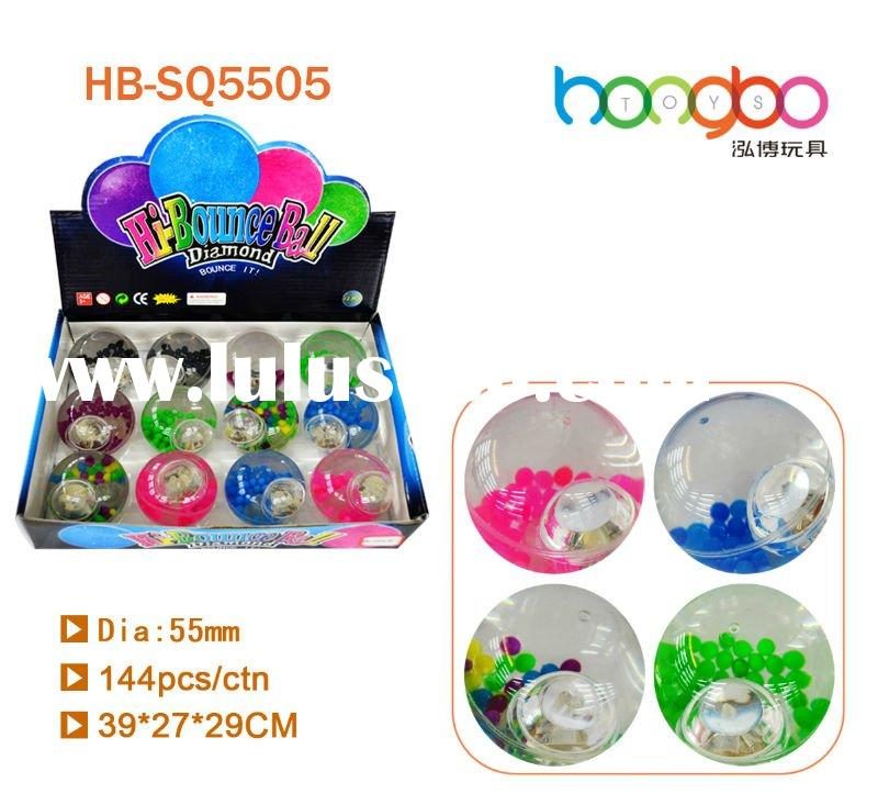 Colourful beads glitter water ball/high bouncing ball/funny toys