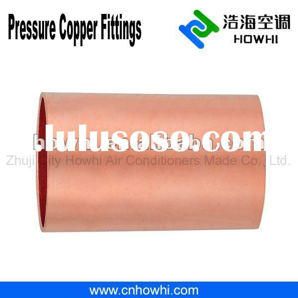 Copper pipe fitting, Coupling - No Stop C X C, for refrigeration and air conditioning