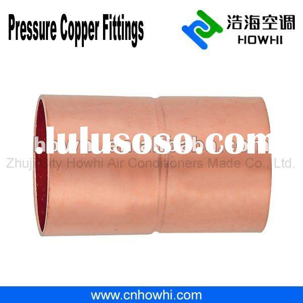 Copper pipe fitting, Coupling - Rolled Stop C X C, for refrigeration and air conditioning