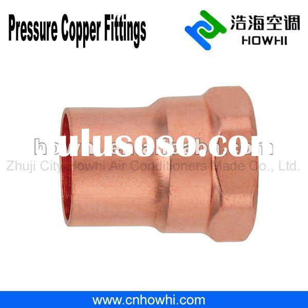 Copper pipe fitting, Female Adapter C x F, for refrigeration and air conditioning