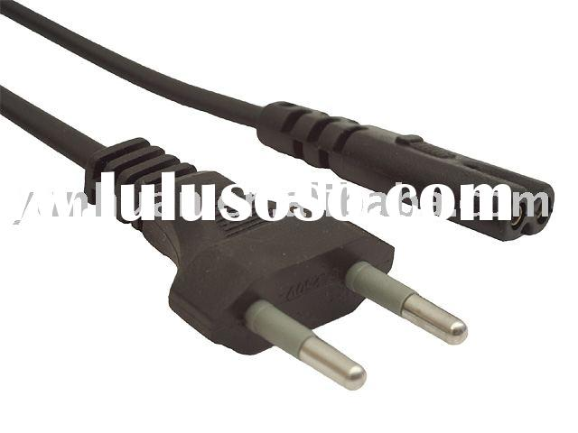 Cord  AC power cable 2pins plug connector europe type
