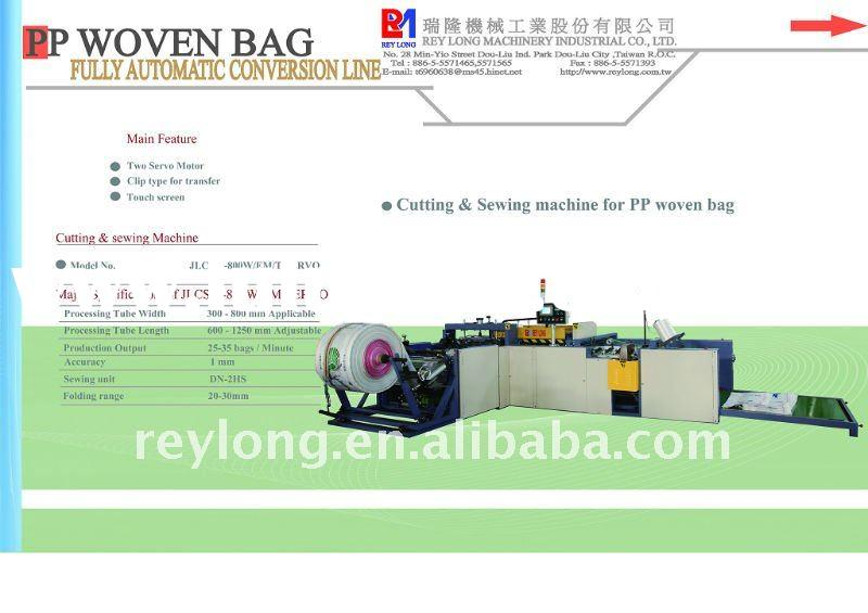 Cutting & sewing machine for PP woven bag