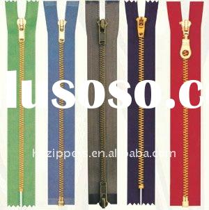 Different kinds of best garment metal zipper