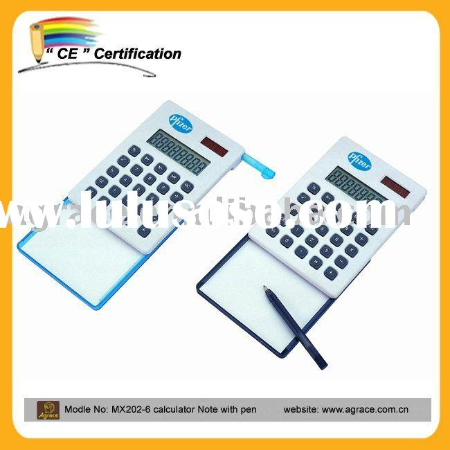 Digit calculator with Memo pad and pen,memo digit calculator