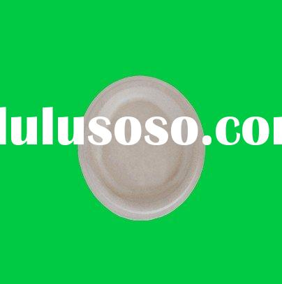 Disposable Paper tableware,biodegradable bamboo plate,sugarcane round plate
