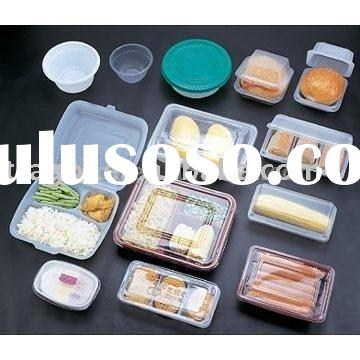 Disposable plastic fast food containers