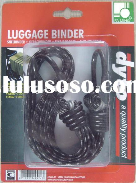 Double heavy duty flat bungee cord tie down straps