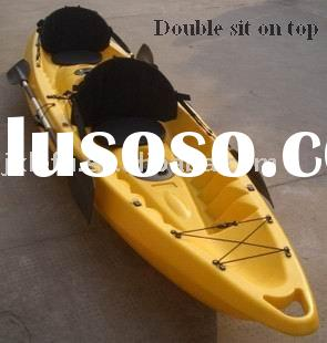 Double sit on top plastic kayak